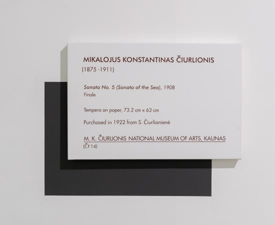 Dag Erik Elgin, La Collection Moderne (Ciurlionis Sonata No 5 / Sonata of the Sea), 2020