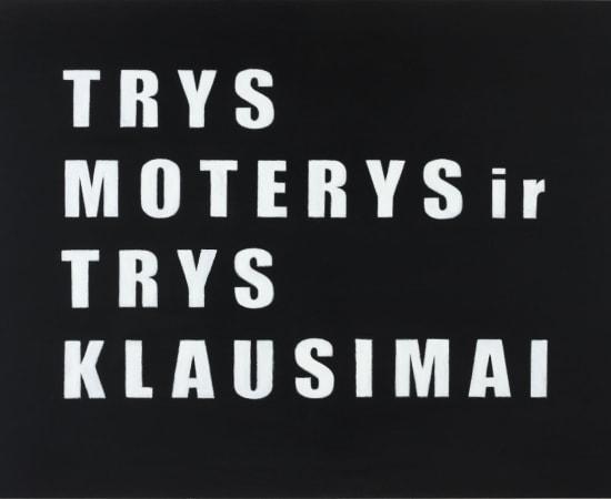 """Jurga Barilaitė, Iš ciklo """"Nepadarytų filmų pavadinimai"""" - Trys moterys ir trys klausimai / From the series 'Titles Of Unmade..."""
