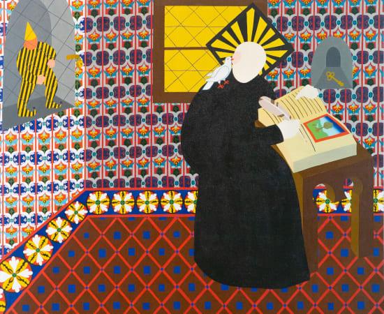 Monika Radžiūnaitė, Faded Linas thinks about art_Defluxit Linas cogitat artis, 2020