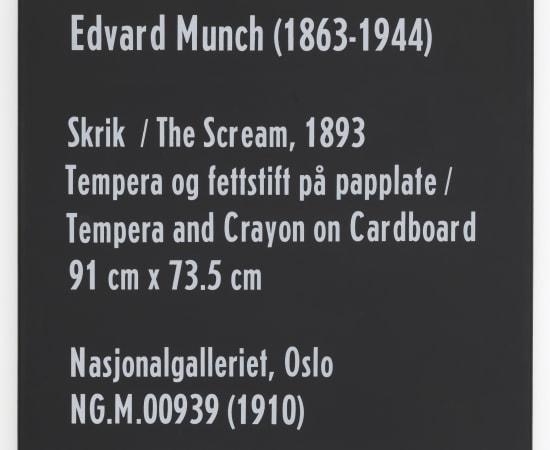 Dag Erik Elgin, La Collection Moderne (Munch The Scream), 2020