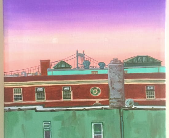 Victoria Borisova, Sunset over Astoria, 2018