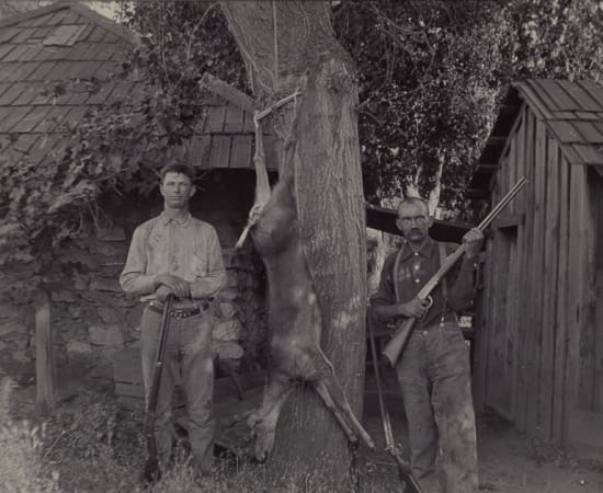 Charles Beverly Hughes (attributed to), Two Deer Hunters