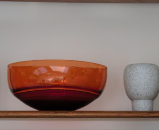 Stewart Hearn, Medium Oval Encalmo Bowl (rose / peach), 2020