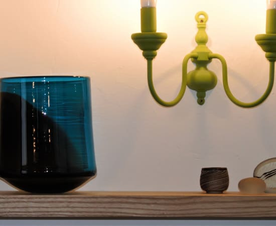 Stewart Hearn, Large Soft Pot (aquamarine with grey), 2021