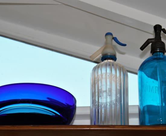 Stewart Hearn, Small Oval Encalmo Bowl (blue / cobalt), 2020