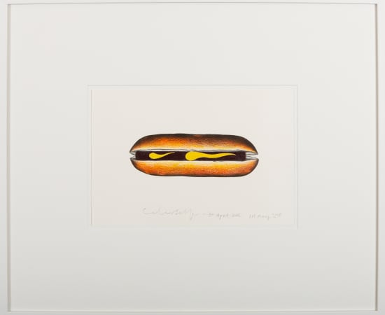 Colin Self, Hot Dog with Mustard, 2015