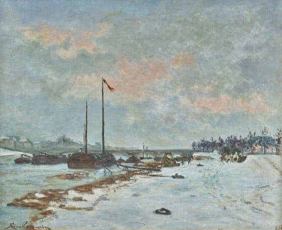 Armand Guillaumin, Le pont d'Austerlitz, Quai de Seine, Paris, 1873