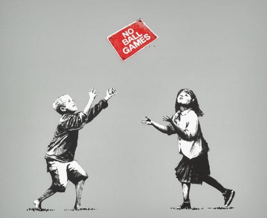 Banksy, No Ball Games Grey, 2009