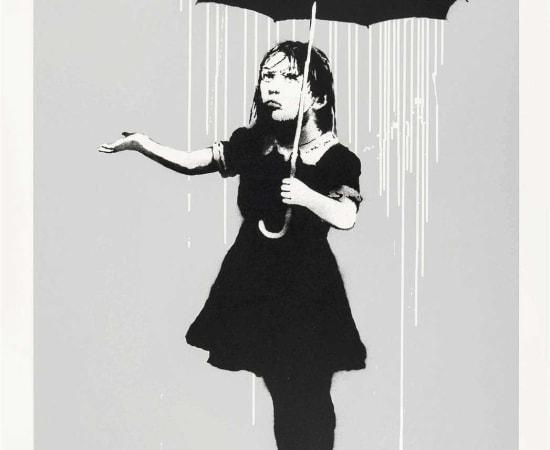 Banksy, NOLA White Rain, 2008