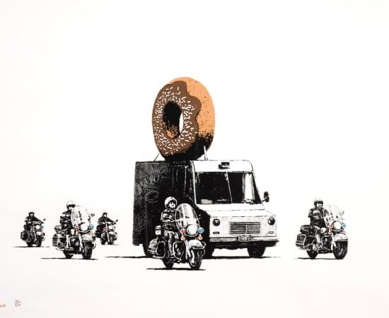 Banksy, Donuts, Chocolate, 2009