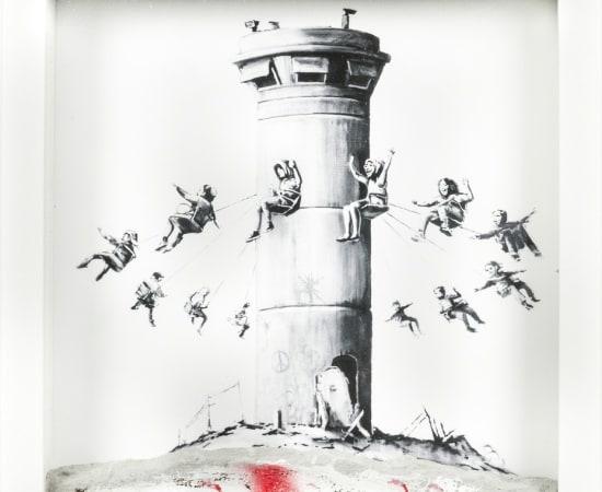 Banksy, Watchtower, 2017
