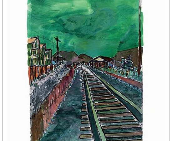 <span class=&#34;artist&#34;><strong>Bob Dylan</strong></span>, <span class=&#34;title&#34;><em>Train Tracks (green)</em>, 2008</span>