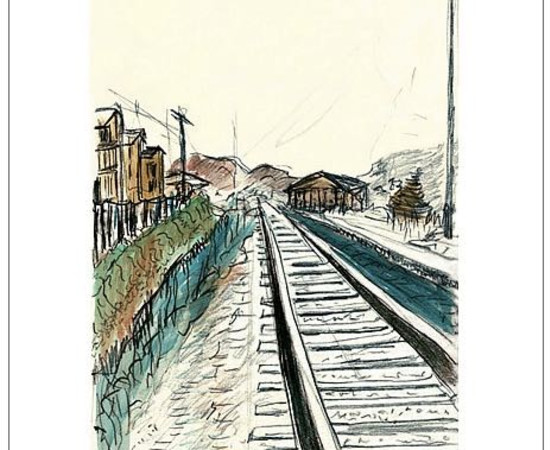 <span class=&#34;artist&#34;><strong>Bob Dylan</strong></span>, <span class=&#34;title&#34;><em>Train Tracks (white)</em>, 2008</span>
