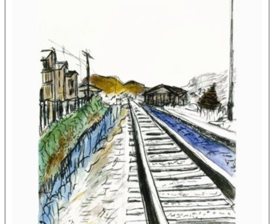 <span class=&#34;artist&#34;><strong>Bob Dylan</strong></span>, <span class=&#34;title&#34;><em>Train Tracks (white - medium format)</em>, 2012</span>