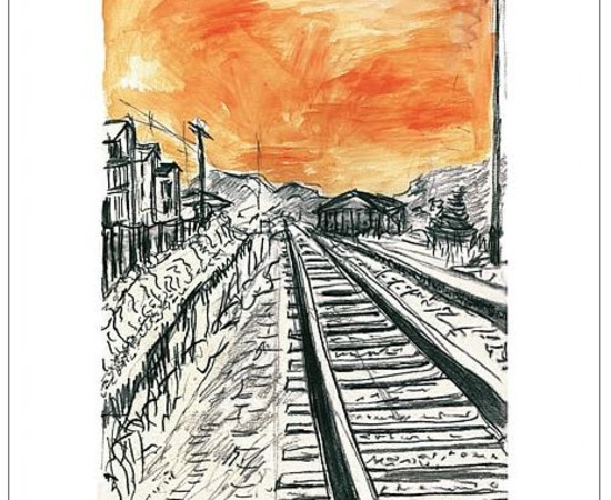 <span class=&#34;artist&#34;><strong>Bob Dylan</strong></span>, <span class=&#34;title&#34;><em>Train Tracks (orange)</em>, 2008</span>