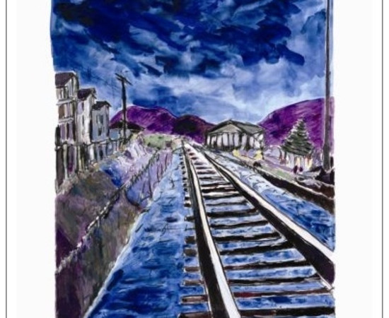 <span class=&#34;artist&#34;><strong>Bob Dylan</strong></span>, <span class=&#34;title&#34;><em>Train Tracks (blue - medium format)</em>, 2012</span>