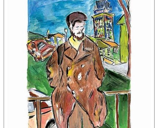 <span class=&#34;artist&#34;><strong>Bob Dylan</strong></span>, <span class=&#34;title&#34;><em>Man On A Bridge (brown)</em>, 2008</span>