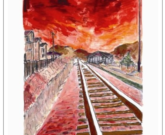<span class=&#34;artist&#34;><strong>Bob Dylan</strong></span>, <span class=&#34;title&#34;><em>Train Tracks (red - medium format)</em>, 2012</span>