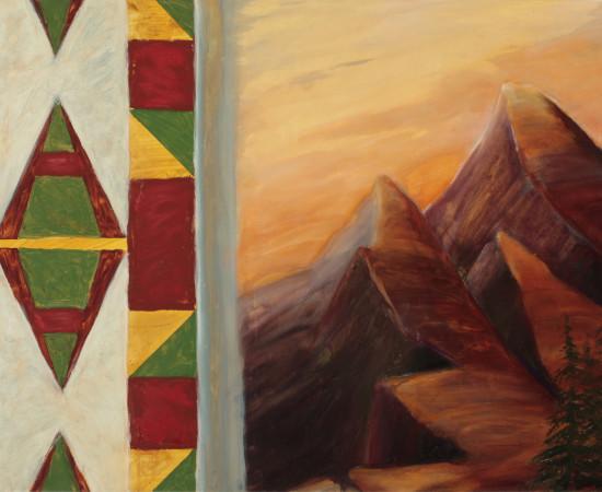 Kay WalkingStick, Our Land, Variation I, 2008