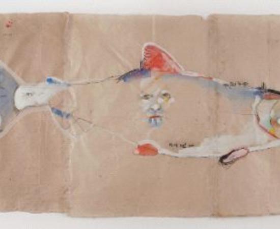 <span class=&#34;artist&#34;><strong>Rick Bartow</strong></span>, <span class=&#34;title&#34;><em>Autumnal Metaphor 6, Salmon</em>, 2014</span>