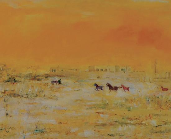 <span class=&#34;artist&#34;><strong>Rashid Al Khalifa</strong></span>, <span class=&#34;title&#34;><em>Horses at Sakir Palace</em>, 1969</span>