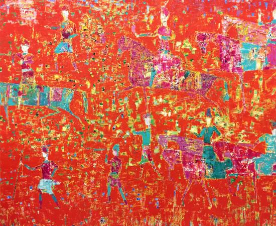 <p><span class=&#34;artist&#34;><strong>Reza Derakshani</strong></span>, <span class=&#34;title&#34;><em>Hunting Red</em>, 2016</span></p>