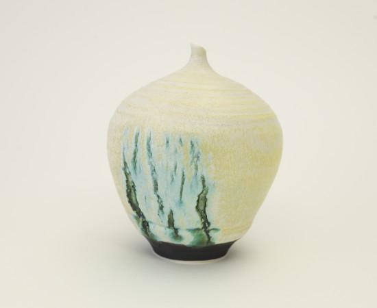 <span class=&#34;artist&#34;><strong>Hugh West</strong><span class=&#34;artist_comma&#34;>, </span></span><span class=&#34;title&#34;>Bottle Vase Open Green Cracks</span>