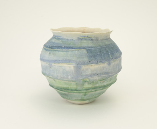 <span class=&#34;artist&#34;><strong>Hugh West</strong><span class=&#34;artist_comma&#34;>, </span></span><span class=&#34;title&#34;>Swirl Open Vase</span>