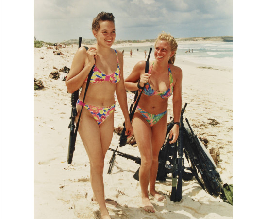 Dan Eldon, Two Marines Enjoy the Beach, 1993