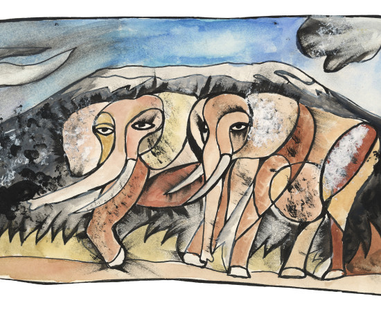 Dan Eldon, Elephants, Created - 1988 | Printed - 2017