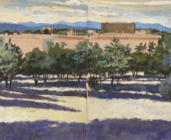 Charles-Élie Delprat, Madrid, la Sierra Guadarrama depuis la Ciudad Universitaria, 2019