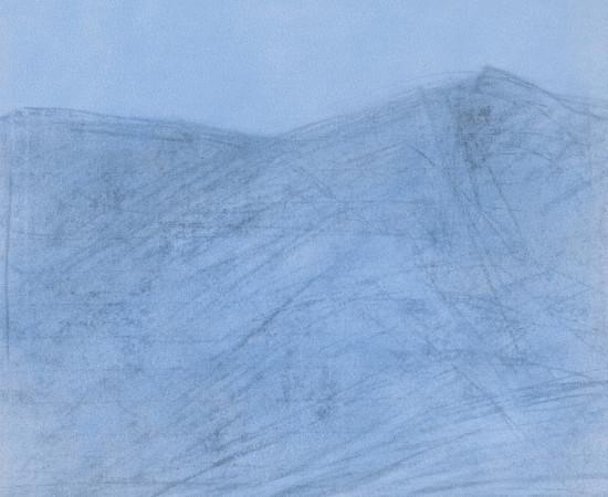 Farhad Ostovani, Montagne en bleu (#3), 2019