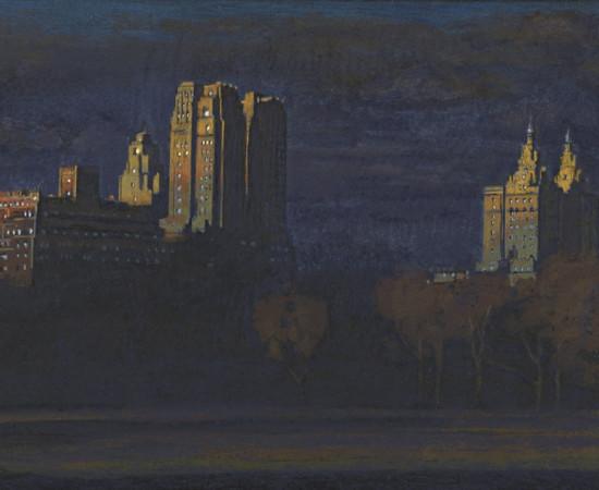 "Jean-Baptiste Sécheret, série ""Central Park, soir"" #4, 2008-2020"