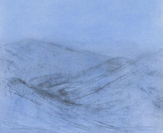 Farhad Ostovani, Montagne en bleu (#4), 2019
