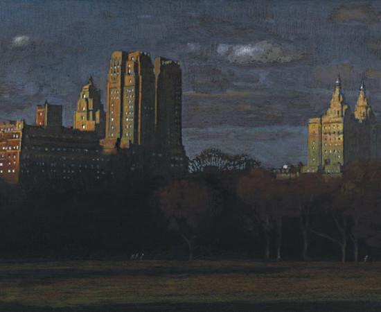 "Jean-Baptiste Sécheret, série ""Central Park, soir"" #5, 2008-2020"