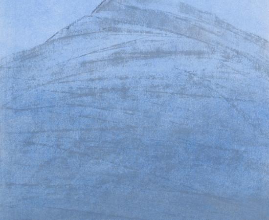 Farhad Ostovani, Montagne en bleu (#2), 2019