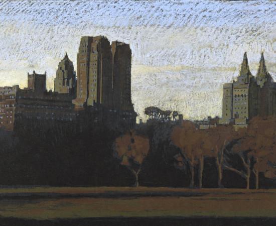 "Jean-Baptiste Sécheret, série ""Central Park, soir"" #6, 2008-2020"