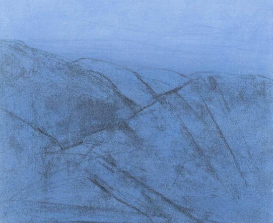 Farhad Ostovani, Montagne en bleu (#1), 2019
