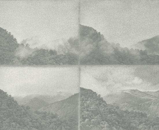 Jean-Michel Bacquet, La vue d'en face, quatre études d'une journée d'août, 2014