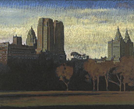 "Jean-Baptiste Sécheret, série ""Central Park, soir"" #3, 2008-2020"
