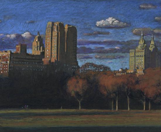 "Jean-Baptiste Sécheret, série ""Central Park, soir"" #7, 2008-2020"