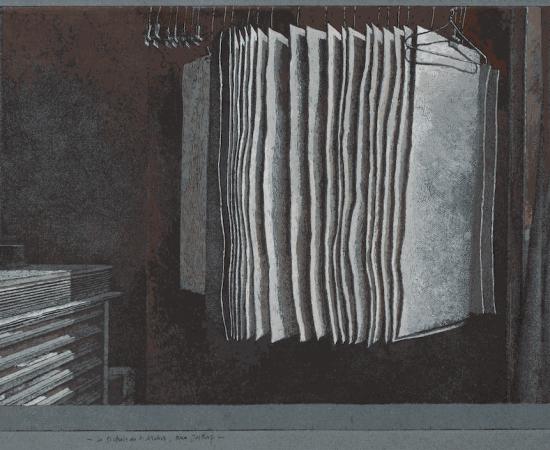 Érik Desmazières, Le Séchoir de l'atelier, rue Hittorf, 2020