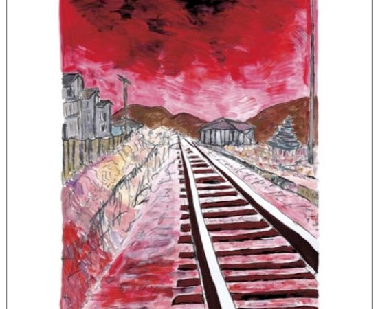 <span class=&#34;artist&#34;><strong>Bob Dylan</strong></span>, <span class=&#34;title&#34;><em>Train Tracks (red)</em>, 2010</span>