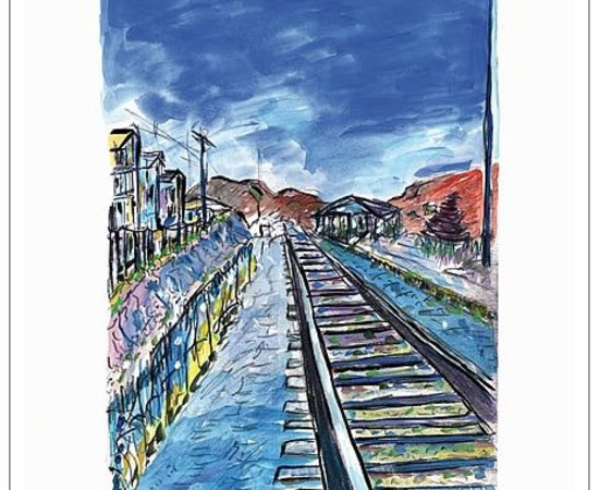 <span class=&#34;artist&#34;><strong>Bob Dylan</strong></span>, <span class=&#34;title&#34;><em>Train Tracks (blue)</em>, 2008</span>