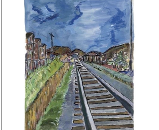 <span class=&#34;artist&#34;><strong>Bob Dylan</strong></span>, <span class=&#34;title&#34;><em>Train Tracks (blue)</em>, 2010</span>