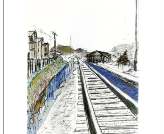 <span class=&#34;artist&#34;><strong>Bob Dylan</strong></span>, <span class=&#34;title&#34;><em>Train Tracks (white)</em>, 2010</span>