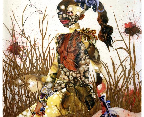 <span class=&#34;artist&#34;><strong>Wangechi Mutu</strong></span>, <span class=&#34;title&#34;><em>In Killing Fields Sweet Butterfly Ascend</em>, 2003</span>