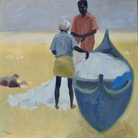 """<span class=""""artist""""><strong>Clare Granger</strong></span>, <span class=""""title""""><em>Checking the Nets</em></span>"""