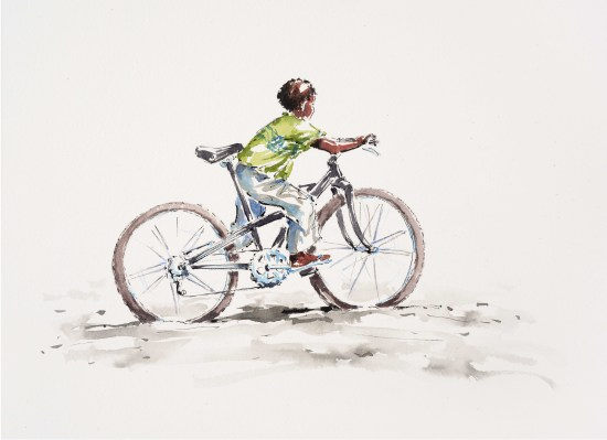 "<span class=""artist""><strong>Julia Cassels</strong></span>, <span class=""title""><em>Bicycle Boy</em></span>"