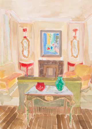 "<span class=""artist""><strong>Lottie Cole</strong></span>, <span class=""title""><em>Interior with Matisse</em></span>"